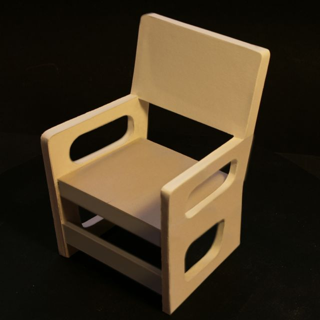 fauteuil en carton r alis avec une nouvelle technique. Black Bedroom Furniture Sets. Home Design Ideas